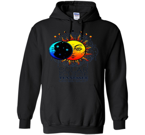 Tennessee Total Solar Eclipse Tennessee Ancient Tshirt cool shirt Black / S Pullover Hoodie 8 oz - WackyTee