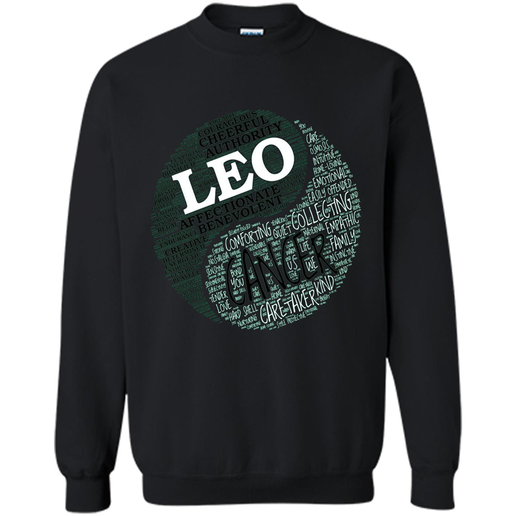 614096c1 Zodiac Facts T-shirt Women Leo and Cancer T-shirt Printed Crewneck Pullover  Sweatshirt
