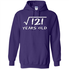 Square Root Of 121 T-shirt 11Th Birthday 11 Years Old T-Shirt Pullover Hoodie 8 oz - WackyTee