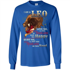 Im A Leo Love Me Ill Move Mountains To Make You Happy T-shirt LS Ultra Cotton Tshirt - WackyTee