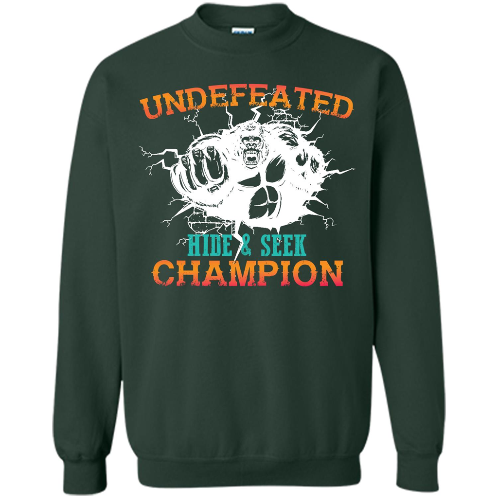 a349cbe3 Undefeated Hide and Seek Champion T-shirt Printed Crewneck Pullover  Sweatshirt 8 oz - WackyTee