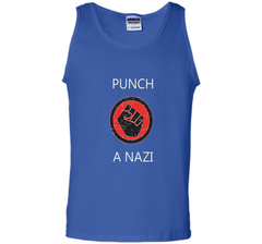 Punch A Nazi - Statement T-shirt shirt Tank Top - WackyTee