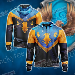 Harry Potter - Ravenclaw House Sporty Style New Unisex Zip Up Hoodie Fullprinted Zip Up Hoodie - WackyTee
