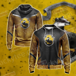 Harry Potter - Hufflepuff Edition New Style Unisex 3D Zip Up Hoodie