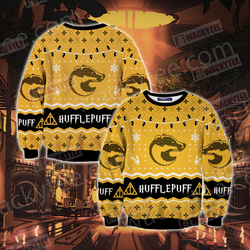 Harry Potter - Hufflepuff House Christmas Style Unisex 3D Sweater