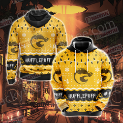 Harry Potter - Hufflepuff House Christmas Style Unisex 3D Hoodie