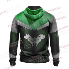 Harry Potter - Slytherin House Sporty Style New Unisex Zip Up Hoodie Fullprinted Zip Up Hoodie - WackyTee