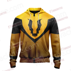 Harry Potter - Hufflepuff House Sporty Style New Unisex Zip Up Hoodie Fullprinted Zip Up Hoodie - WackyTee