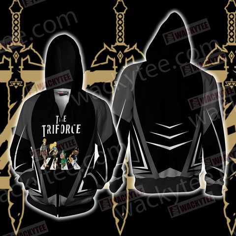 The Legend of Zelda - The Triforce Zip Up Hoodie Jacket US/EU XXS (ASIAN S) Fullprinted Zip Up Hoodie - WackyTee