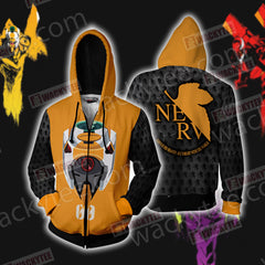 Shin Seiki Evangelion EVA 00 Zip Up Hoodie Jacket Fullprinted Zip Up Hoodie - WackyTee