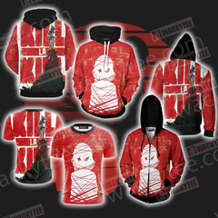 KillLaKill New Unisex Zip Up Hoodie Jacket Fullprinted Zip Up Hoodie - WackyTee
