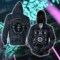 Digimon The Crest of Reliability Zip Up Hoodie Jacket Fullprinted Zip Up Hoodie - WackyTee