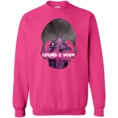 Charity Event T-shirt Gerard and Worm Printed Crewneck Pullover Sweatshirt 8 oz - WackyTee