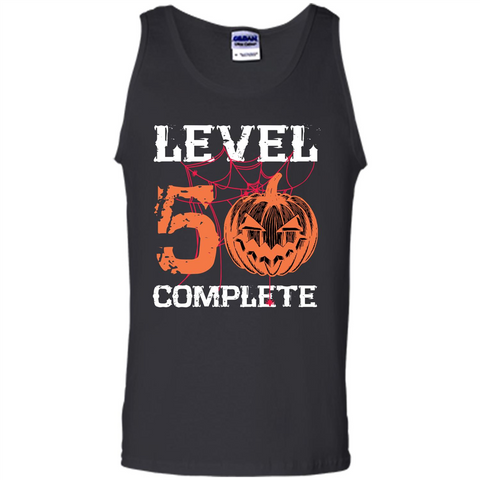 Halloween T-shirt Level 50 Complete Black / S Tank Top - WackyTee