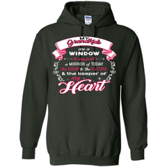 Grandparent T-shirt My Grandkids Are A Window To My Past A Mirror Pullover Hoodie 8 oz - WackyTee