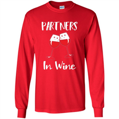 Wine Party T-shirt Partners In Wine T-shirt LS Ultra Cotton Tshirt - WackyTee