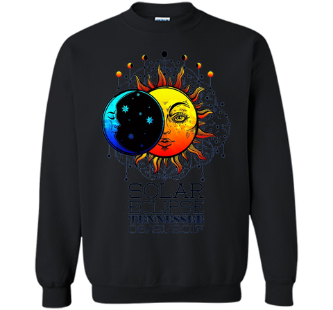 Tennessee Total Solar Eclipse Tennessee Ancient TT-shirt Black / S Printed Crewneck Pullover Sweatshirt 8 oz - WackyTee