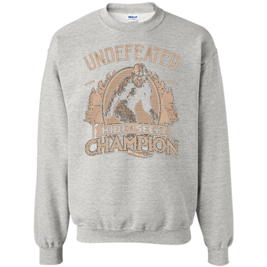 d7f23199 Undefeated Hide Seek Champion T-shirt Printed Crewneck Pullover Sweatshirt  8 oz - WackyTee