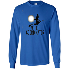 Halloween Witch Coordinator T-Shirt LS Ultra Cotton Tshirt - WackyTee