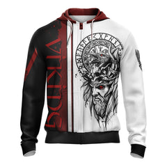 Vikings Unisex 3D Zip Up Hoodie Fullprinted Zip Up Hoodie - WackyTee