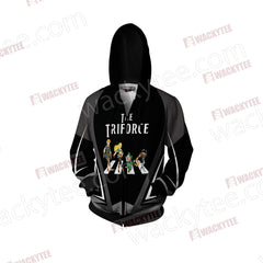 The Legend of Zelda - The Triforce Zip Up Hoodie Jacket Fullprinted Zip Up Hoodie - WackyTee