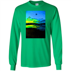 Yellow Dance Of The Tropical Blue Sea And Green Sky T-shirt LS Ultra Cotton Tshirt - WackyTee
