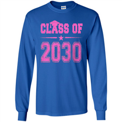 Class of 2030 Pink Girls T-shirt LS Ultra Cotton Tshirt - WackyTee