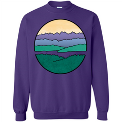 Mountains Over The Sound T-shirt Printed Crewneck Pullover Sweatshirt 8 oz - WackyTee