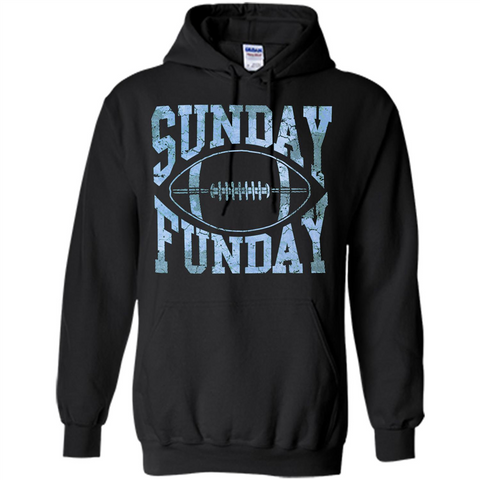 Football T-shirt Sunday Funday Football SeasonT-Shirt Black / S Pullover Hoodie 8 oz - WackyTee