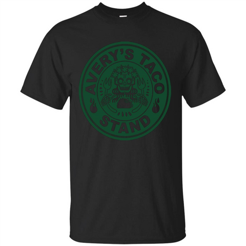 Avery's Taco Stand Green T-shirt Black / S Custom Ultra Tshirt - WackyTee