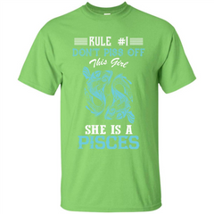 Pisces T-shirt Rule Dont Piss Off This Girl T-shirt Custom Ultra Tshirt - WackyTee