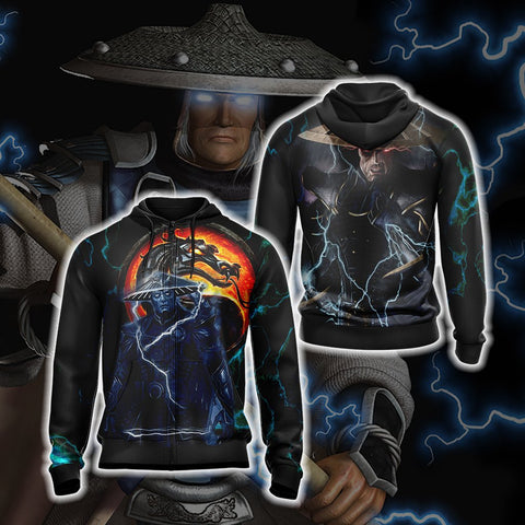 Mortal kombat - Raiden Dark Unisex 3D Zip Hoodie US/EU XXS (ASIAN S) Fullprinted Zip Up Hoodie - WackyTee