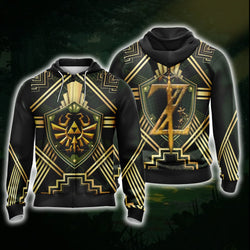 The Legend Of Zelda Unisex 3D Zip Up Hoodie