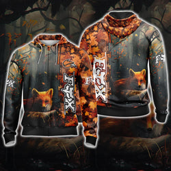 Fox Unisex 3D Zip Up Hoodie
