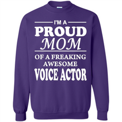Funny Mommy Gift T-shirt Proud Mom Of A Voice Actor T-shirts Printed Crewneck Pullover Sweatshirt 8 oz - WackyTee