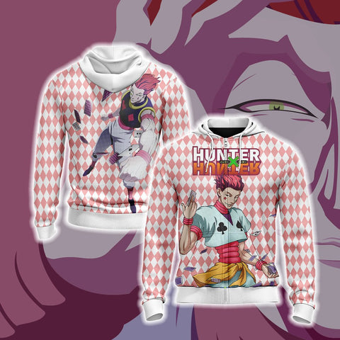Hunter x Hunter - Hiskoka Unisex Zip Up Hoodie US/EU XXS (ASIAN S) Fullprinted Zip Up Hoodie - WackyTee