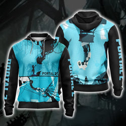 Portal 2 New Collection Unisex Zip Up Hoodie