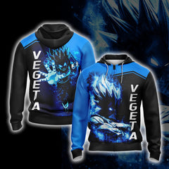 Dragon Ball Vegeta Unisex Zip Up Hoodie Fullprinted Zip Up Hoodie - WackyTee