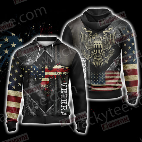 Veteran New Look Unisex Zip Up Hoodie Jacket US/EU XXS (ASIAN S) Fullprinted Zip Up Hoodie - WackyTee