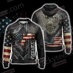 Veteran New Look Unisex Zip Up Hoodie Jacket Fullprinted Zip Up Hoodie - WackyTee