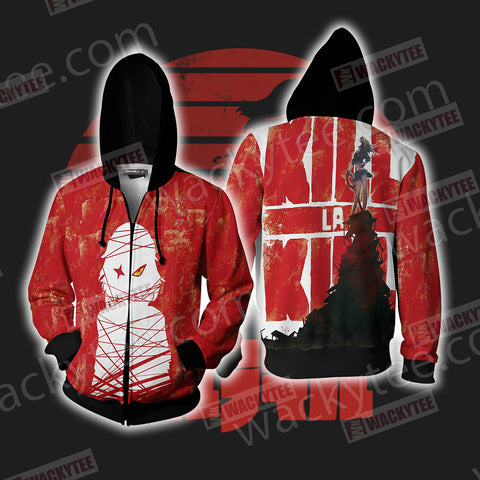 KillLaKill New Unisex Zip Up Hoodie Jacket US/EU XXS (ASIAN S) Fullprinted Zip Up Hoodie - WackyTee