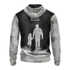 Daddy & Daughter - Not Always Eye To Eye But Always Heart To Heart Unisex 3D Zip Up Hoodie Fullprinted Zip Up Hoodie - WackyTee