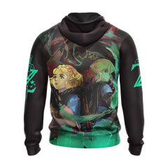 The Legend Of Zelda: Breath Of The Wild (BotW) Link, Zelda And Ganondorf Unisex Zip Up Hoodie Fullprinted Zip Up Hoodie - WackyTee