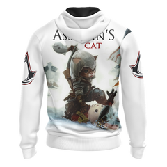 Assassin's Creed III-IV Cat Unisex 3D Zip Up Hoodie Fullprinted Zip Up Hoodie - WackyTee