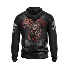 Sons of Anarchy New Style Unisex Zip Up Hoodie Fullprinted Zip Up Hoodie - WackyTee