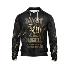 Im A Proud Daddy Unisex 3D Zip Up Hoodie Fullprinted Zip Up Hoodie - WackyTee