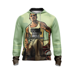 Grand Theft Auto: San Andreas Unisex Zip Up Hoodie Fullprinted Zip Up Hoodie - WackyTee