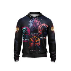 Star Wars - Villains Unisex Zip Up Hoodie Fullprinted Zip Up Hoodie - WackyTee