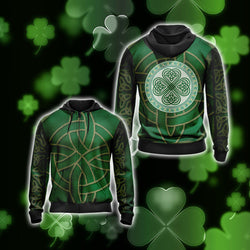 Irish Saint Patricks Day Unisex Zip Up Hoodie