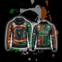Sons Of Ireland American Chapter Happy Saint Patrick's Day Zip Up Hoodie